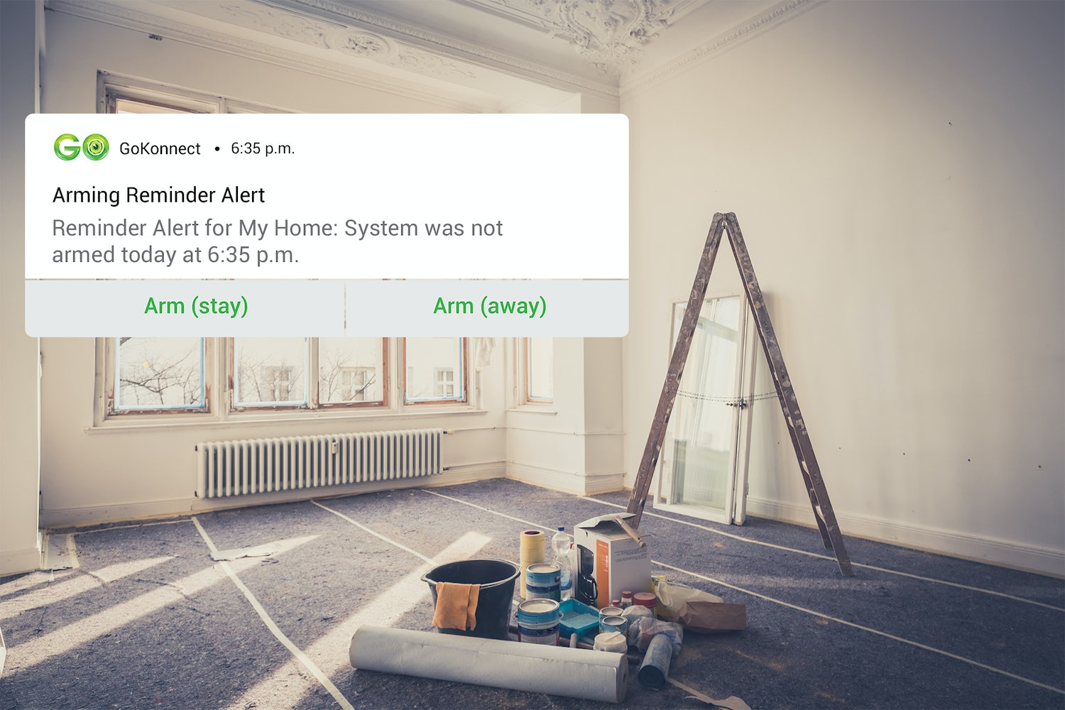 Renovating your home? Use GoKonnect Smart Home Security.
