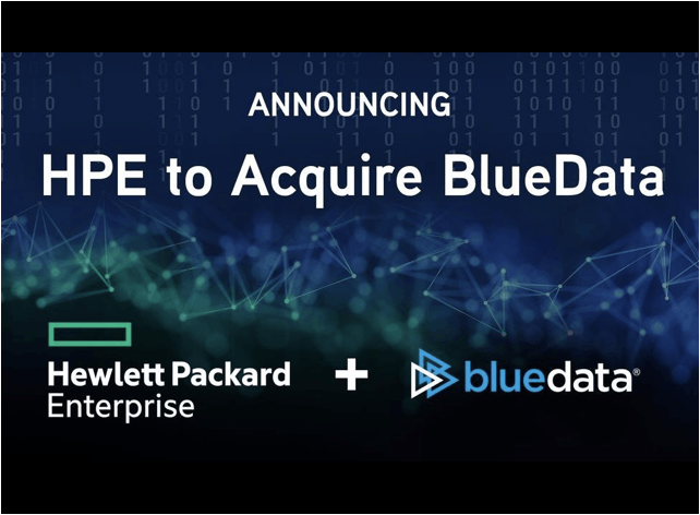 BlueData acquired by HPE