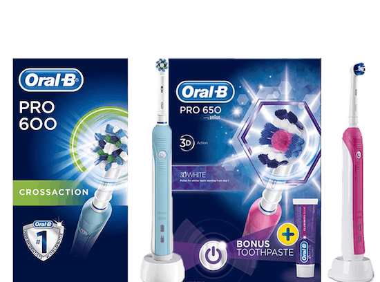 Up to Half Price Oral B electric toothbrushes