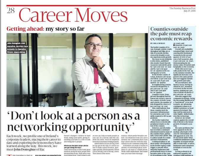 CEO John Donoghue featured in The Sunday Business Post