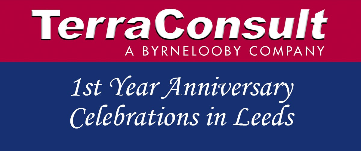 TerraConsult in Leeds Marks 1st Year Anniversary