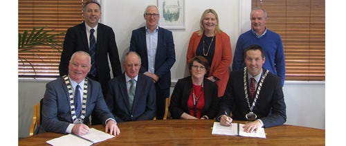 ByrneLooby signs contract for a Flood Relief Scheme in Graiguenamanagh/Tinnahinch