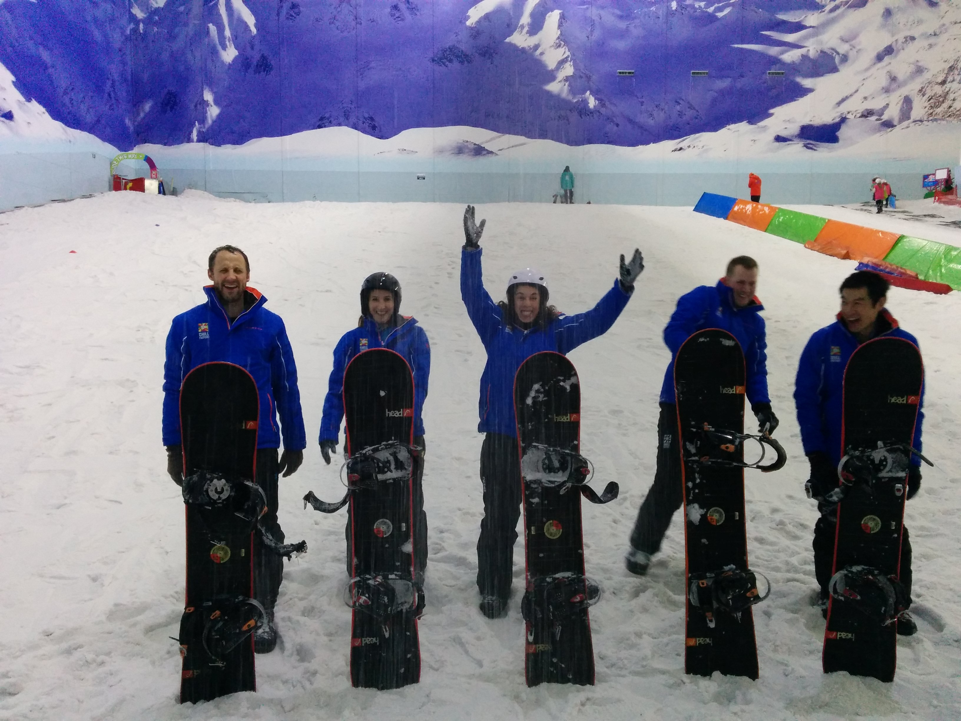 The Manchester Team Goes Snowboarding