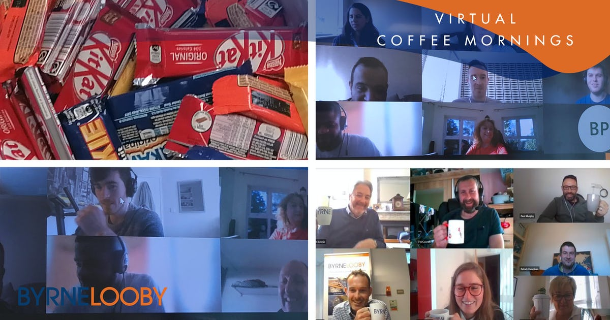 Virtual Coffee Mornings at ByrneLooby Offices