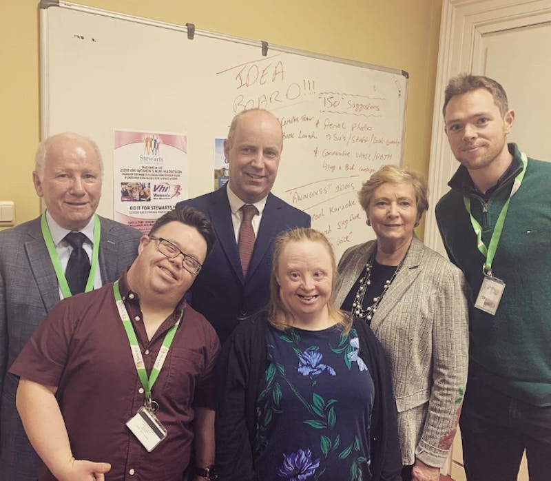 Minister Jim Daly and TD Frances Fitzgerald visit Stewarts Care