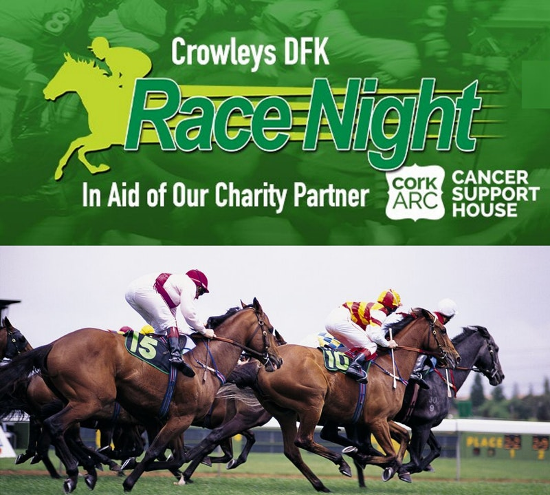 Crowleys DFK Virtual Race Night Fundraiser raises over €6,600 for Cork ARC