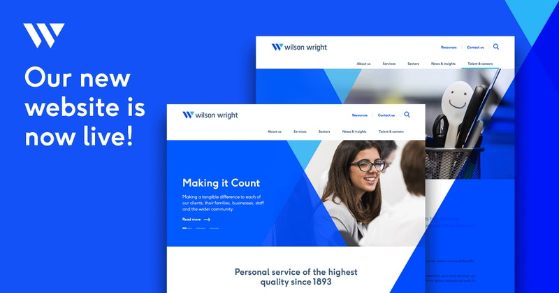 Wilson Wright  - A new look. The same exceptional service