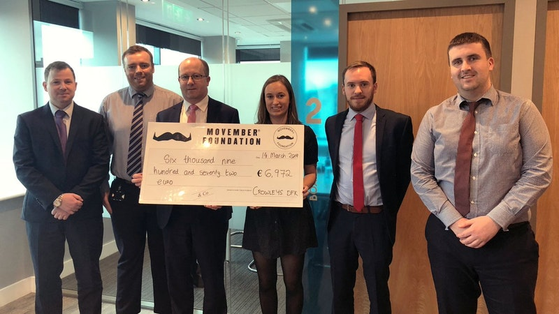 Crowleys DFK raise funds for Movember
