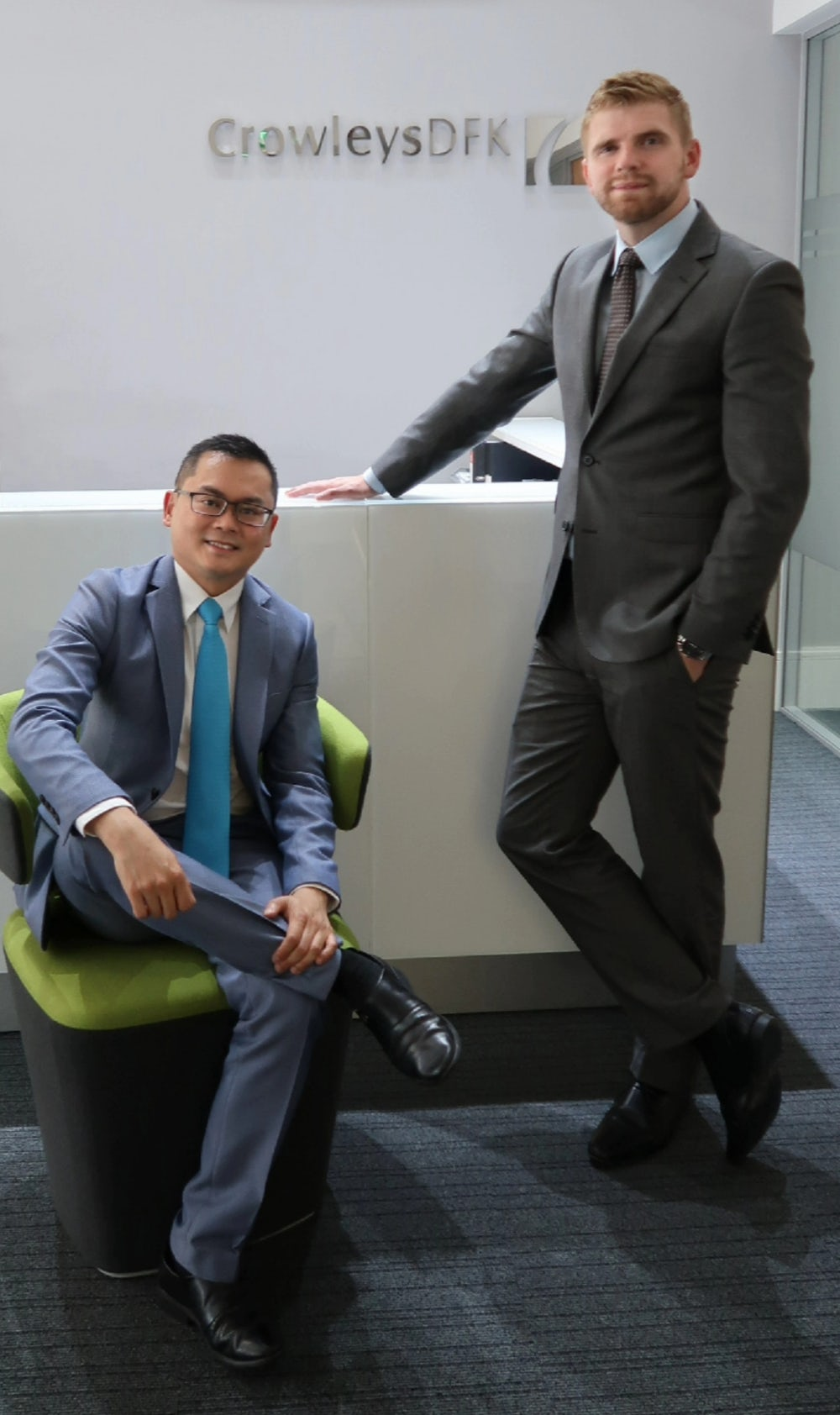 Pictured: (l-r) Vincent Teo, Partner and  Head of Public Sector Services and David Coombes,  Partner, Public Sector Services