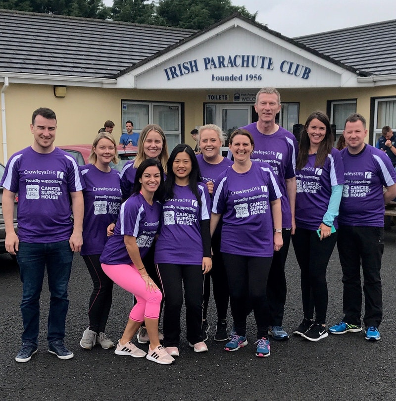 Crowleys DFK Skydive raises over €6,500 for Cork ARC
