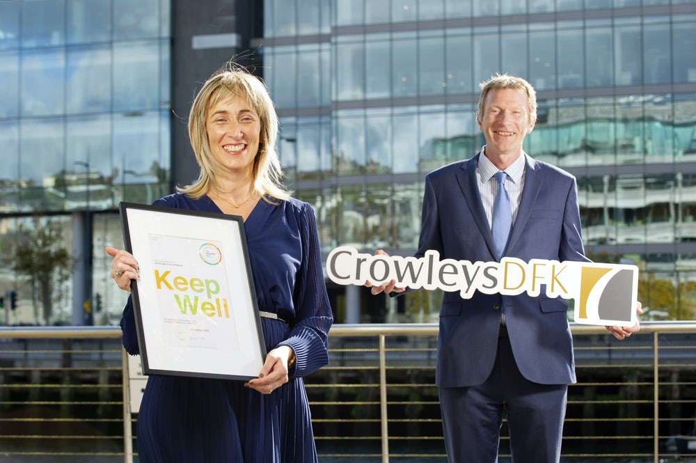 CROWLEYS DFK AWARDED IBEC KEEPWELL MARK FOR COMMITMENT TO EMPLOYEE WELLNESS