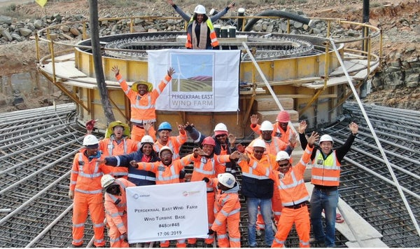 Perdekraal East completes foundations, South Africa