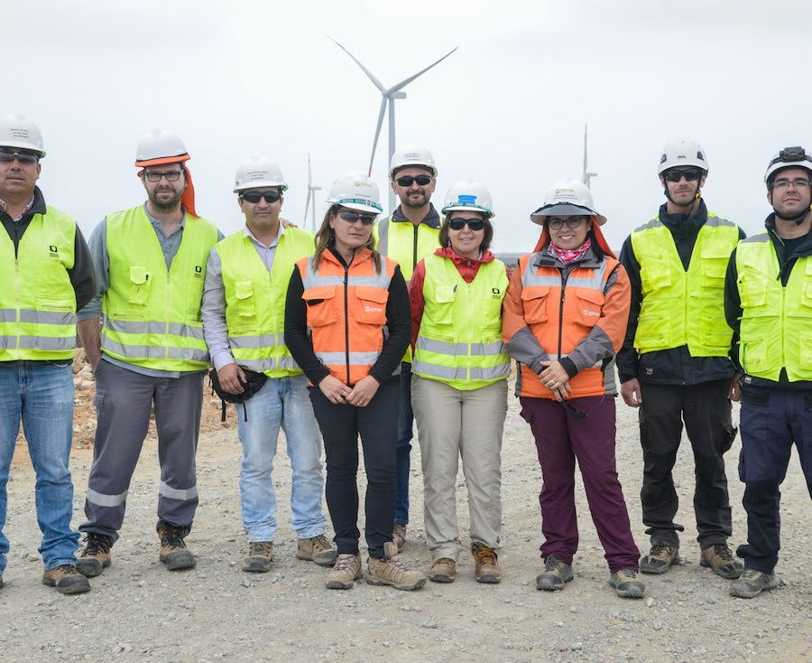 Sarco wind farm celebrates all wind turbines in place
