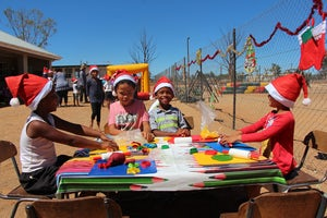 Universal Childrens Day Party for Loeriesfontein Children, South Africa