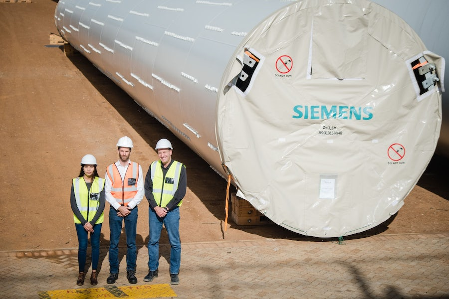 Construction milestones reached for wind farms