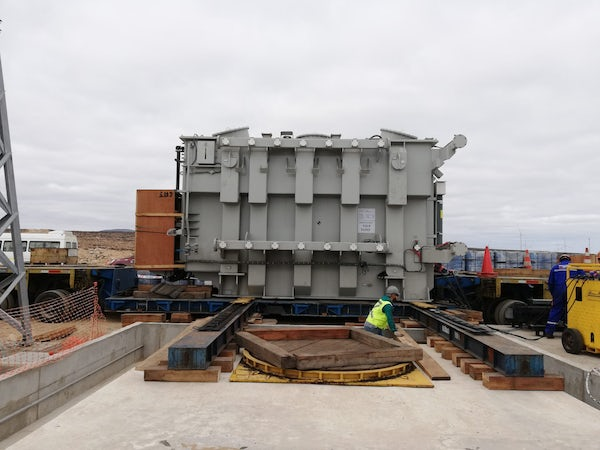 Power Transformer arrives at Sarco wind project site