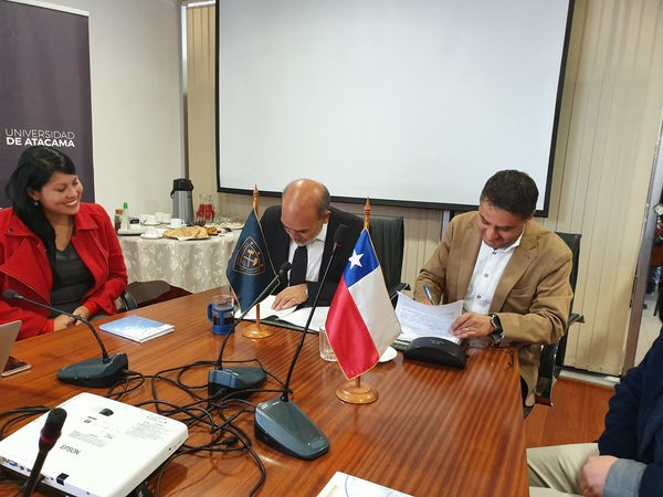 Cooperation Agreement signed with University of Atacama