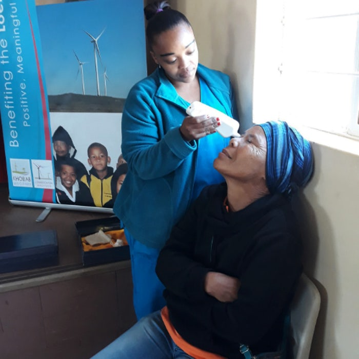 Wind farm funds pop-up clinic to safeguard women's health