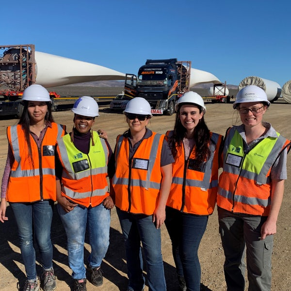 Women relish having 'essential hand' in wind farm build