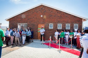Noupoort wind farm builds creche for Eurekaville and supports local enterprises, South Africa