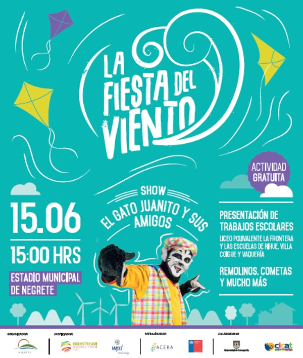 "Celebrating Global Wind Day in Negrete, Chile -  the first ""Fiesta del Viento"""