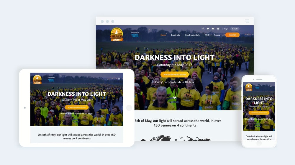 Darkness Into Light Mockup