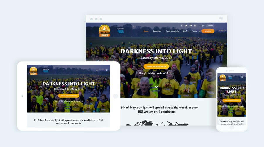 Darkness Into Light Shortlisted for 3 eir Spiders