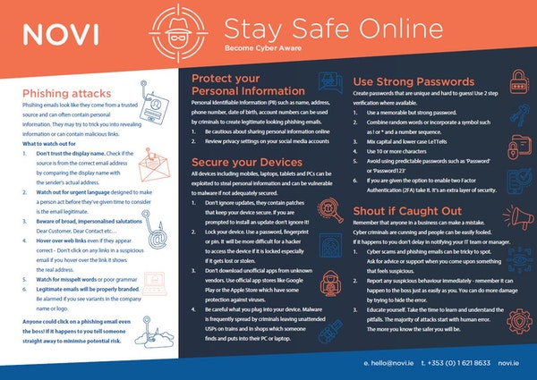 Cybersecurity - Staff Guide to Staying Safe Online