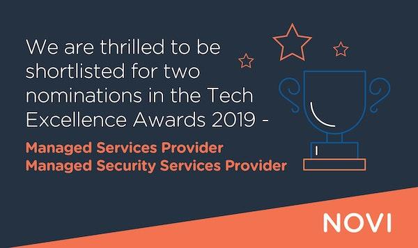Novi shortlisted for Tech Excellence Awards