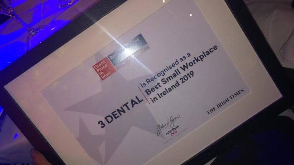 3Dental Best Small Workplace in Ireland 2019
