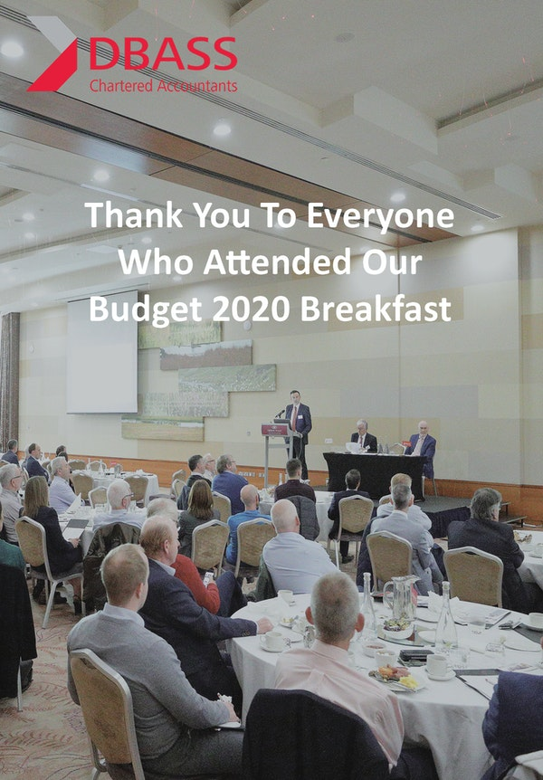 Budget 2020 Breakfast Thank You