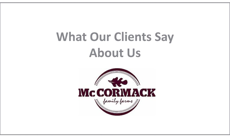 McCormack Family Farms Testimonial For DBASS