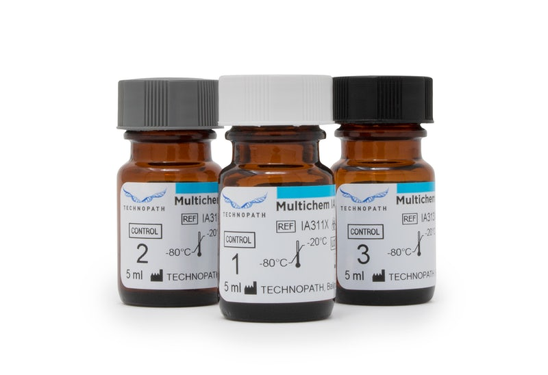 Multichem IA Plus tri-level immunoassay vials