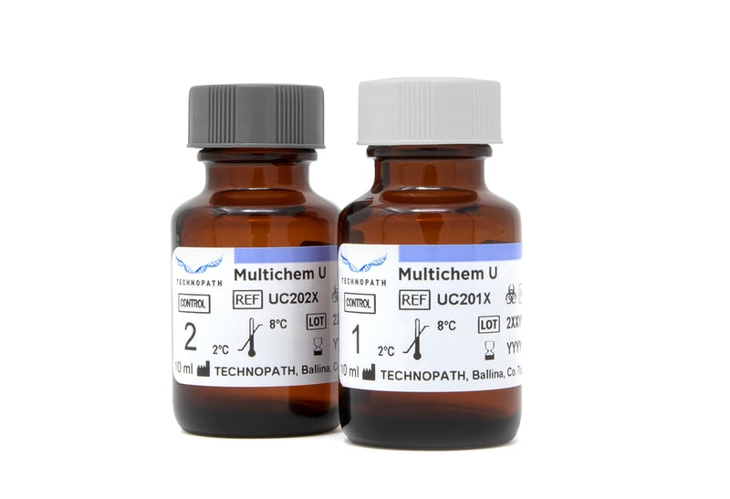 Multichem U 10mL level one and level 2 vials