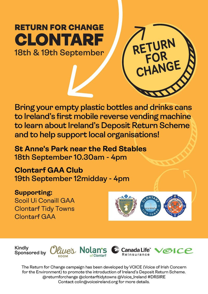 Return for Change Clontarf - This Weekend!