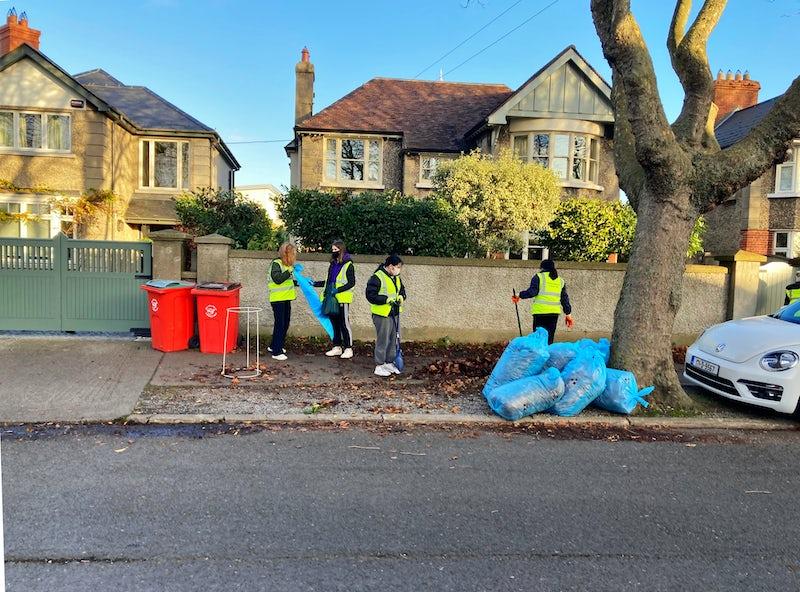 Holy Faith Students Street Clean