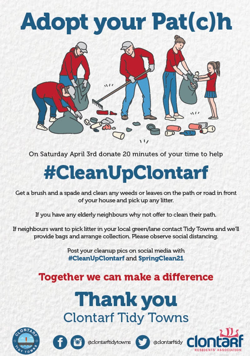 Adopt Your Pat(c)h on April 3rd and help #CleanUpClontarf