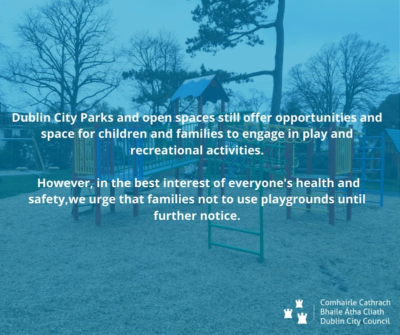 DCC Advises Against Visiting Playgrounds