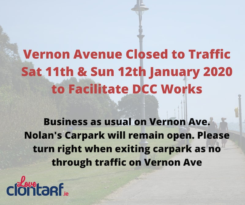 Reminder: Temporary Road Closures Vernon Ave 11th & 12th Jan