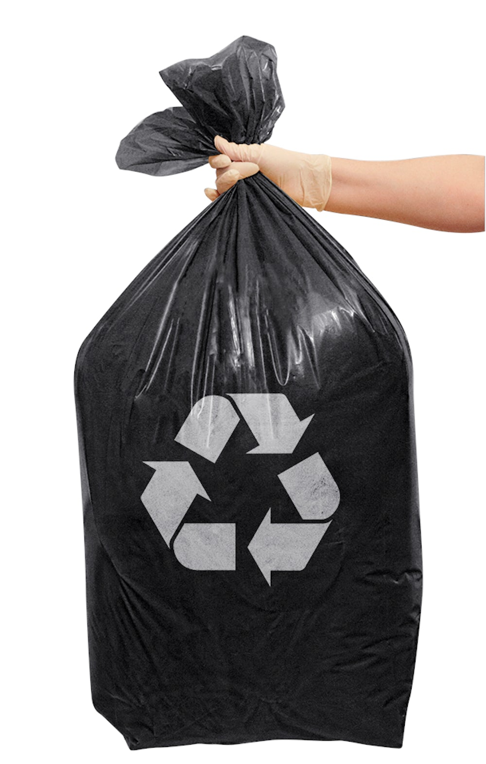 Black bag of recyclable waste