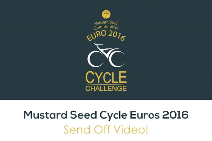 Mustard Seed Euro 2016 Cycle Challenge Send of Video