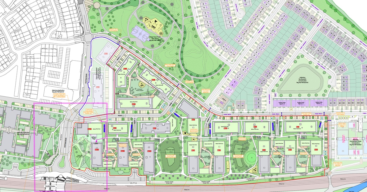 This large site is located in West Dublin and is part of an overall development plan for the greater area adjacent to the north side of Hansfield train station.