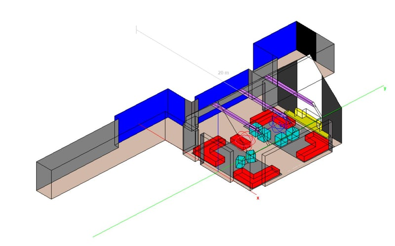 Computerized 3D Model of a room