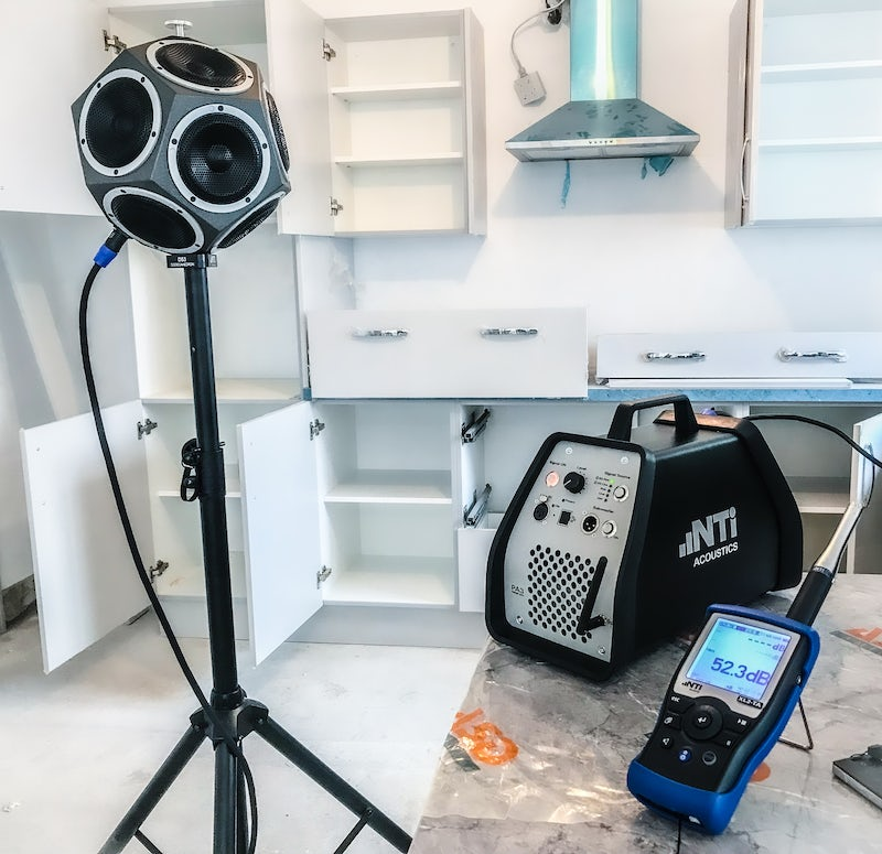 Sound insulation testing equipment.
